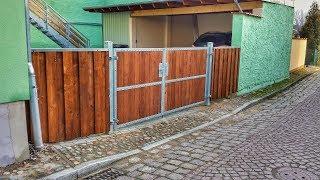 2-flügeliges Einfahrtstor selber bauen - Eingangstor, Hoftor, Grundstückstor - Bauanleitung - DIY