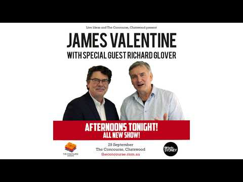 Afternoons Tonight!  All New  with special guest Richard Glover 29 Sept 2018