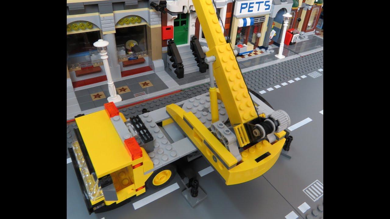Lego city how to build a lego crane speed build youtube for Make a crane