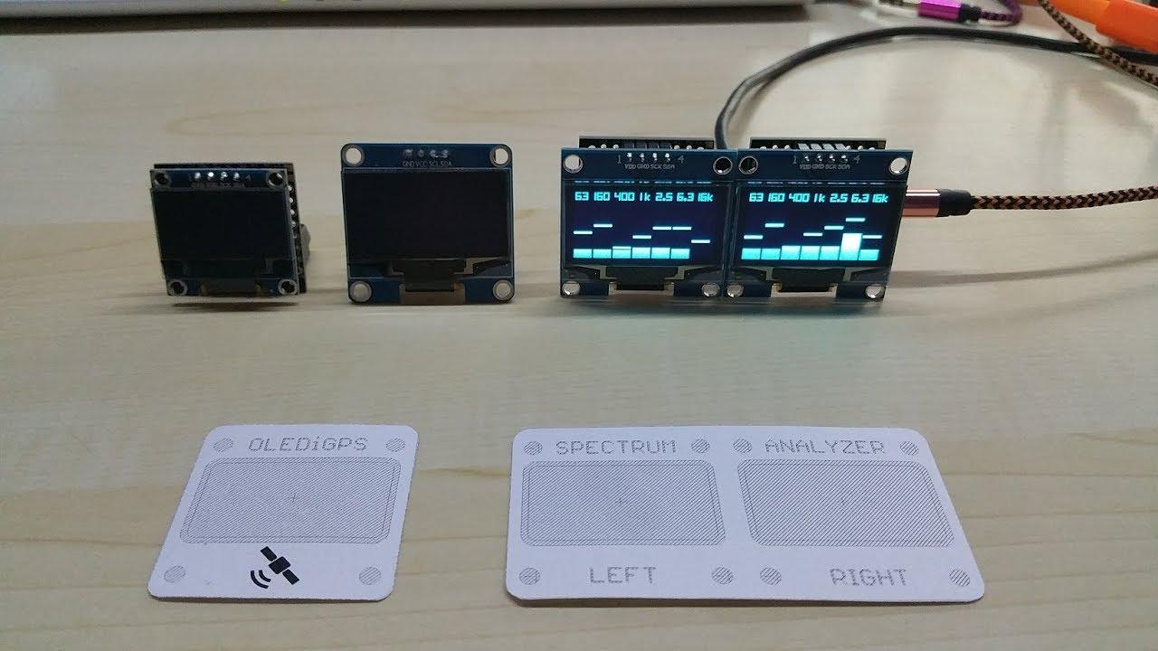 OLEDiUNO Spectrum Analyzer with 3 display modes from Phoenix