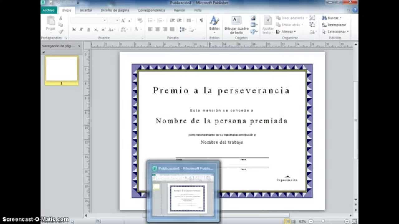 microsoft publisher diploma youtube