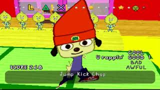 parappa stage 1 exept theres no music (+ bonus at the end)