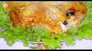 Вегетарианская овощная лазанья