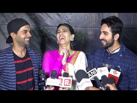 Ayushmann Khurrana,Kriti Sanon & Rajkummar Rao's FUNNY Moments At Bareilly Ki Barfi Promotions