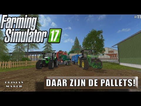 """""""DAAR ZIJN DE PALLETS!"""" FarmingSimulator 17 Frisian March #11"""