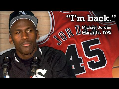 c413c272d6c82f Michael Jordan Returns (1995 Comeback) - YouTube