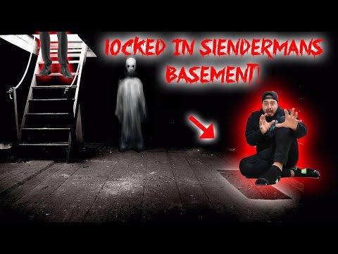 LOCKED IN SLENDER MANS BASEMENT! | MOE SARGI