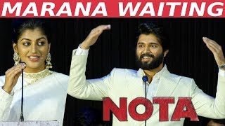 SENSATION Vijay Devarkonda is MARANA WAITING for… | Yaashikaa Speech | NOTA