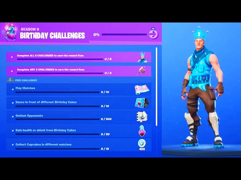 *NEW* FREE BIRTHDAY ITEMS In Fortnite.. (THANKS EPIC!)