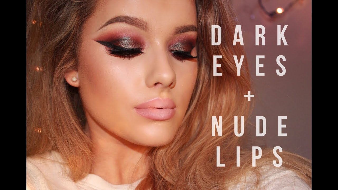 bfc9d323ac Night Out Clubbing Make up Tutorial - Dark eyes   Nude lips