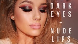 Night Out/Clubbing Make up Tutorial - Dark eyes & Nude lips | Rachel Leary