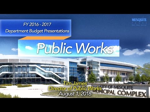 Public Works Department Presentation 8/1/16