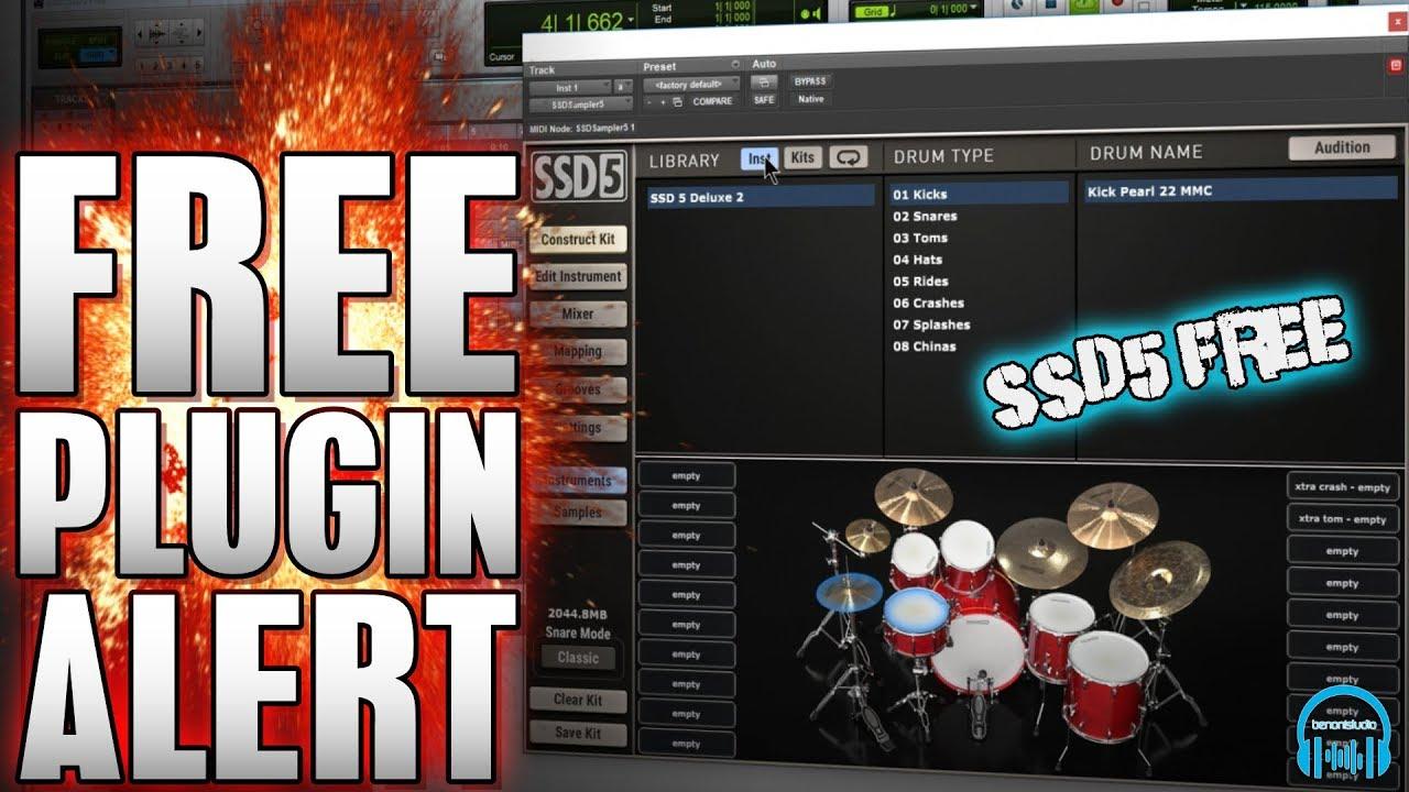 Steven Slate Drums SSD5 FREE Drum Plugin - benonistudio