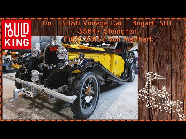 Ein Klassiker in dem Großformat der Hypercars | MouldKing | 13080 | Bugatti 50T | Review
