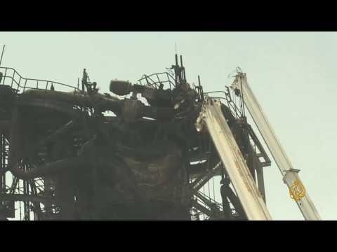صور لمصنع #أرامكو في خريص تظهر آثار الدمار الناتج عن الهجوم  - نشر قبل 3 ساعة