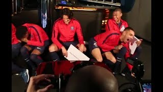 CAVANI Speaking ENGLISH !!! MBAPPE Trying to teach him
