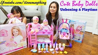 Children's BABY DOLLS Unboxing and Playtime. Cute Interactive Dolls Toy Review. Toy Channel
