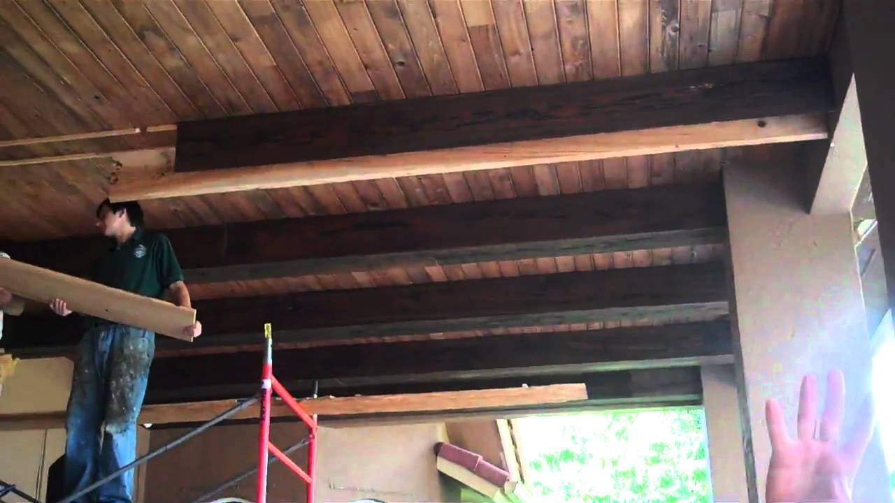 Beautiful Outdoor Tongue and Groove Ceiling! - YouTube