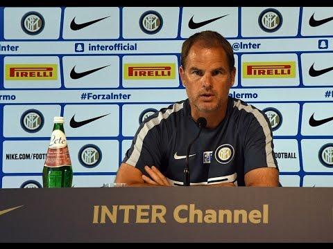 Live!  Conferenza Stampa Frank de Boer prima di Roma-Inter 01.10.2016 13:00CEST