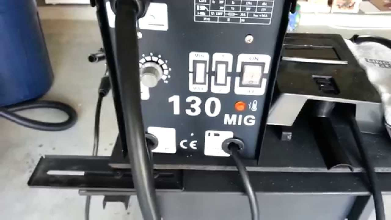 Mig 130 Flux Core Wire Steel Welder 120 AMP  YouTube