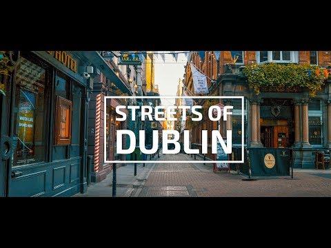 Streets of Dublin 4k   Travel Video