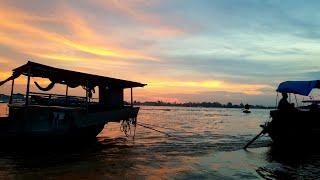 Ăn tô bún cá lãng mạn và bình dân nhất thế giới trên chợ nổi Long Xuyên An Giang