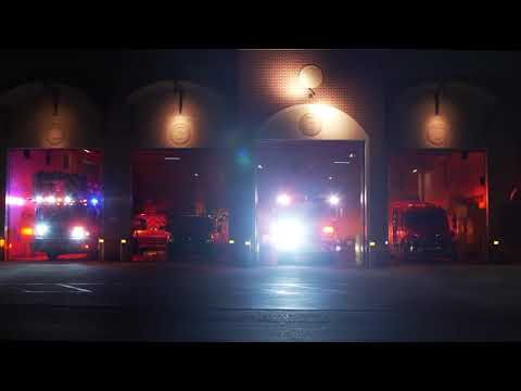 Coral Springs Parkland Fire Trucks Light up to Christmas Music