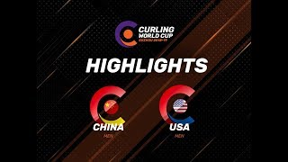 China v United States - Men - Highlights - Curling World Cup First Leg – Suzhou