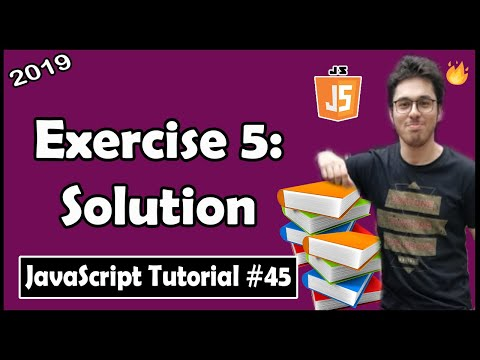Using JavaScript Objects Exercise 5: Solution | JavaScript Tutorial In Hindi #45 thumbnail