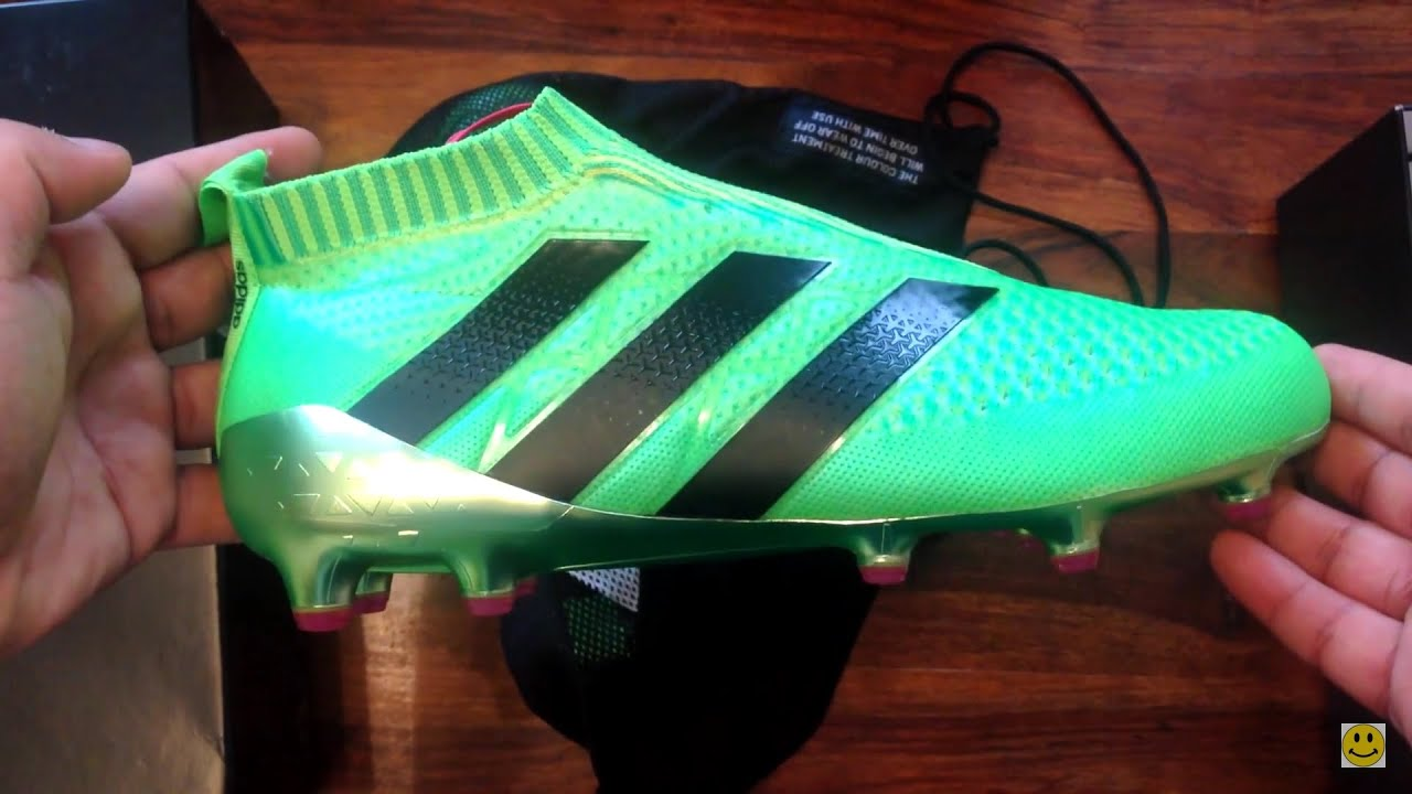 607e3893f5d Adidas ACE 16+ Plus Pure Control Unboxing Review laceless boots Adidas Ace  GTI 2016