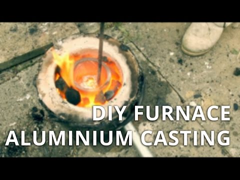 DIY Foundry / Furnace - 1st Attempt / Aluminum Mold Casting