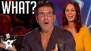 Top Magician RED BUZZED Herself and SHOCKS Simon Cowell on BGT | Got Talent Global
