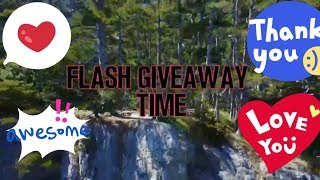 FLASH GIVEAWAY TIME!