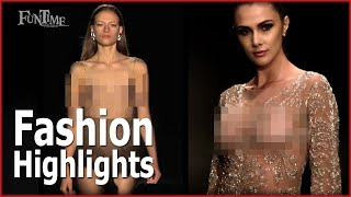 FASHION Highlights - 04 - No Bra - FunTime Channel - फैशन नो ब्रा - सेक्सी फैशन शो मॉडल - 性感时装秀模特哎呀