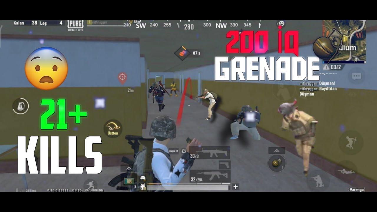200 IQ GRENADE - PUBG MOBİLE LİTE - SOLO VS SQUAD 21 KILLS - 4 FİNGERS