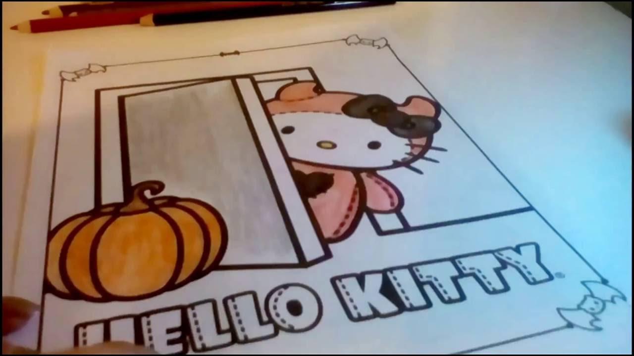 911e2204adfa Hello Kitty Halloween activity coloring book - YouTube