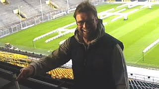 funny moment a journalist liverpool fan begs jurgen klopp to come to anfield