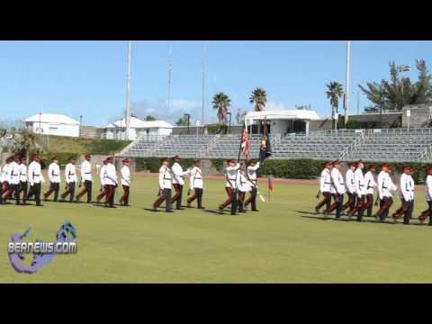 Bermuda Regiment Marches Off