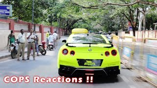 COPS React to this CRAZY GREEN Nissan GTR