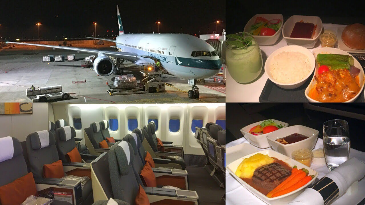Cathay Pacific Business Cl On Boeing 777 Prototype B Hnl Singapore Hong Kong