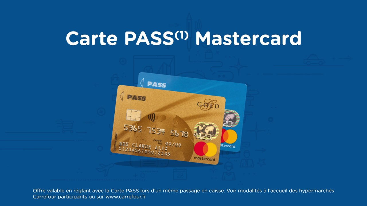 carrefour banque - contenu de la carte pass - youtube