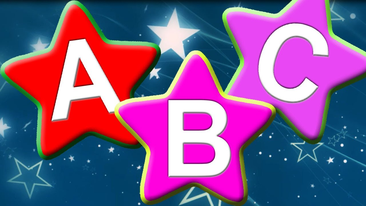 ALPHABET - ABC Song With Cute Star Shape