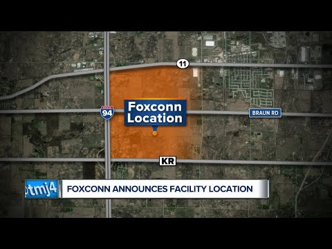 Foxconn choses site in Mount Pleasant
