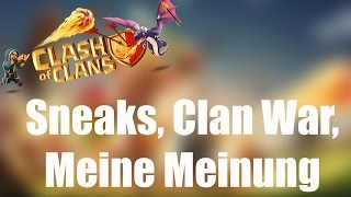 SNEAKS, CLAN WAR, MEINE MEINUNG: Das Update naht! ✭ Clash of Clans [deutsch / german]