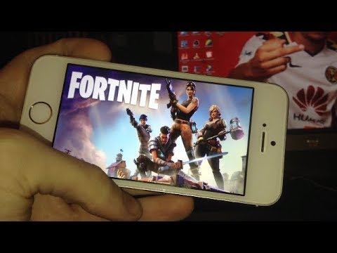 JOUER A FORTNITE SUR IPHONE 5S !