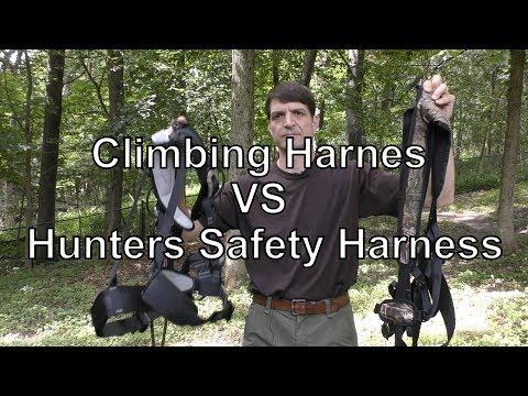 Climbing Harness VS Hunters Safety Harness