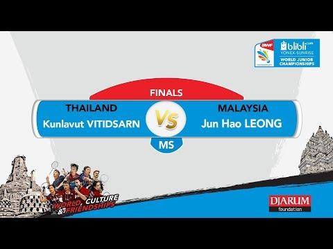 WORLD JUNIOR CHAMPIONSHIPS 2017 | MS FINALS | VITIDSARN (THA) vs LEONG (MAS)