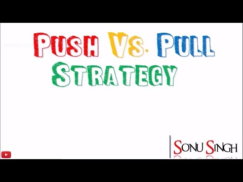Pull vs. push strategy || Meaning || Difference || Promotion mix || marketing management || ppt
