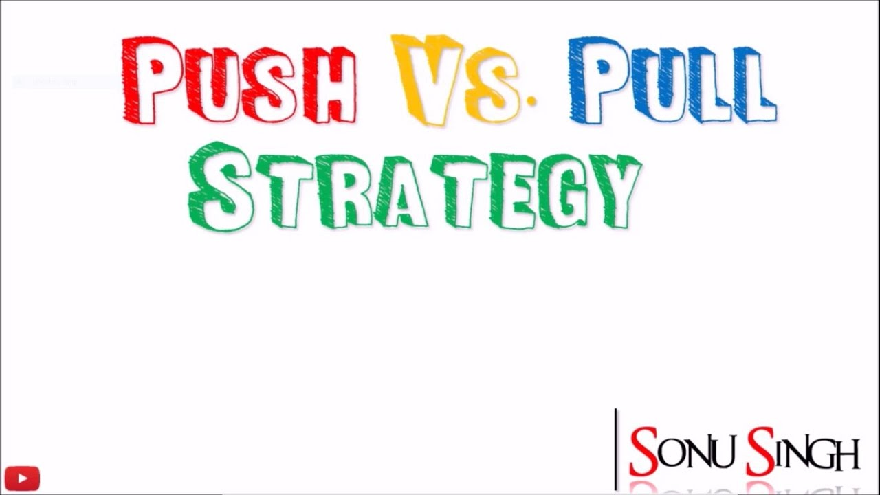 Pull vs  push strategy || Meaning || Difference || Promotion mix ||  marketing management || ppt