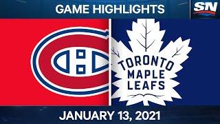 NHL Game Highlights   Canadiens vs. Maple Leafs – Jan. 13, 2020